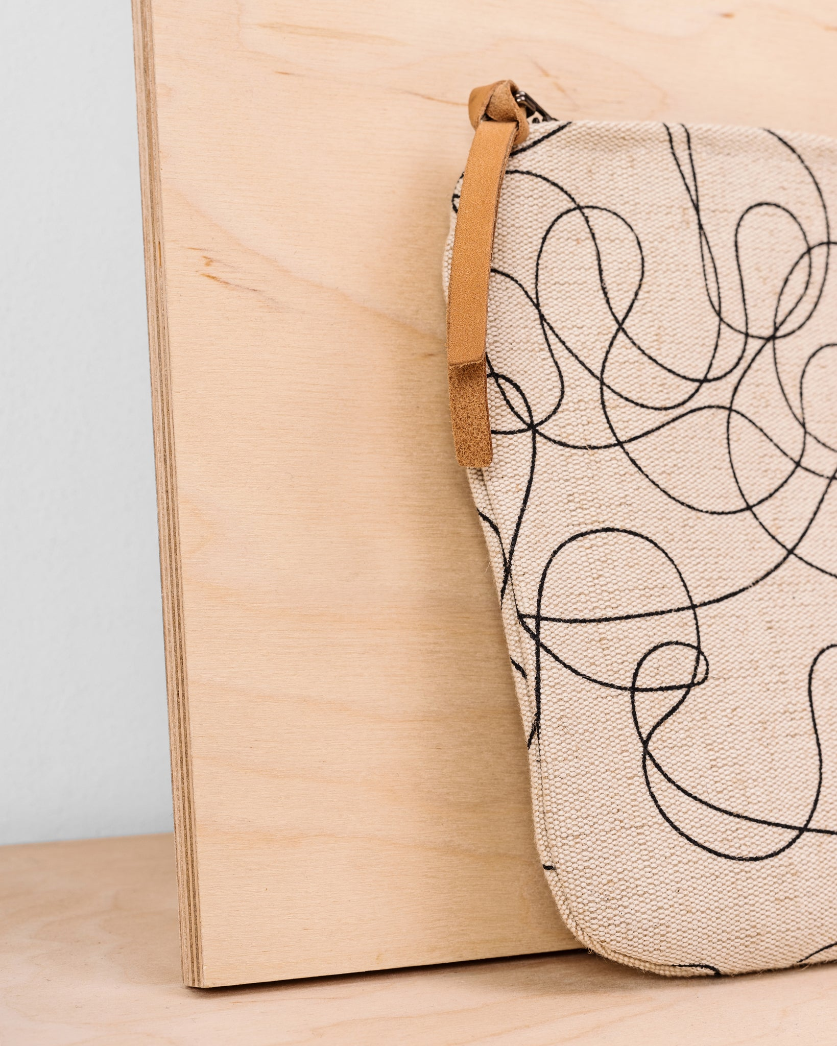 Curlicued Cosmetic Bag - Natural