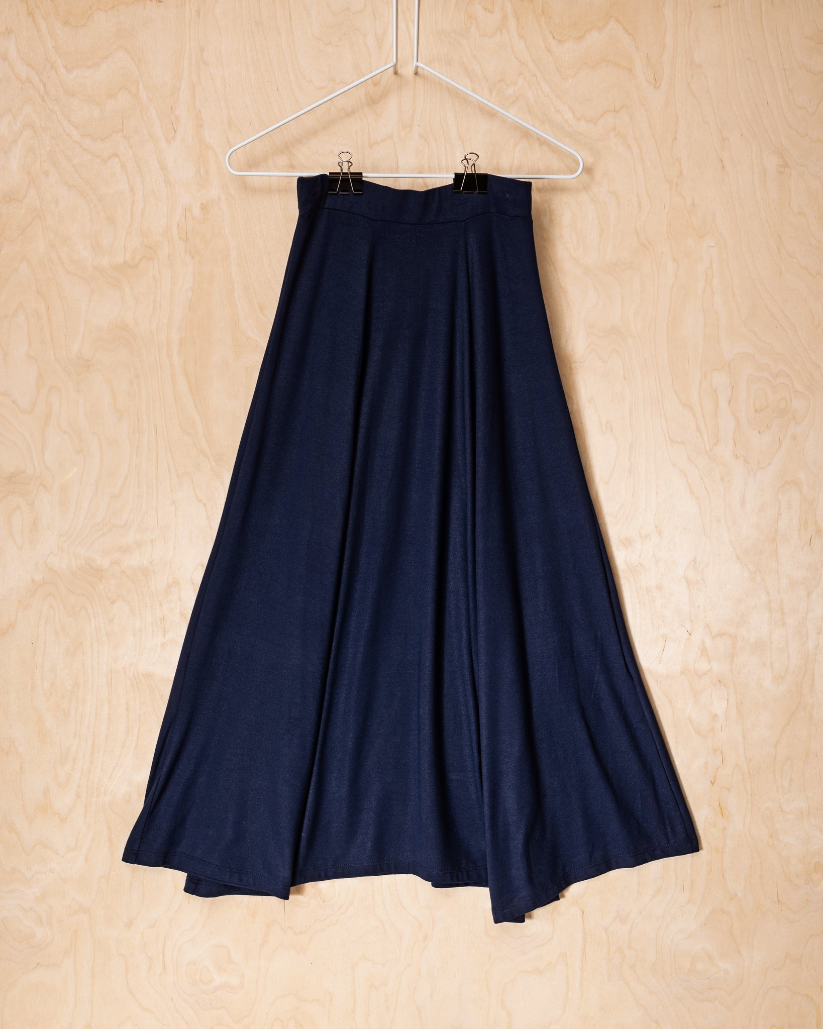 Navy Tencel Skirt
