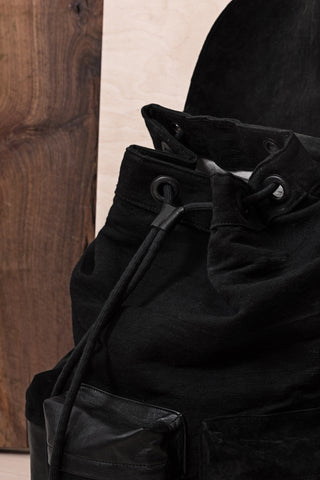Black Backpack With Three Pockets