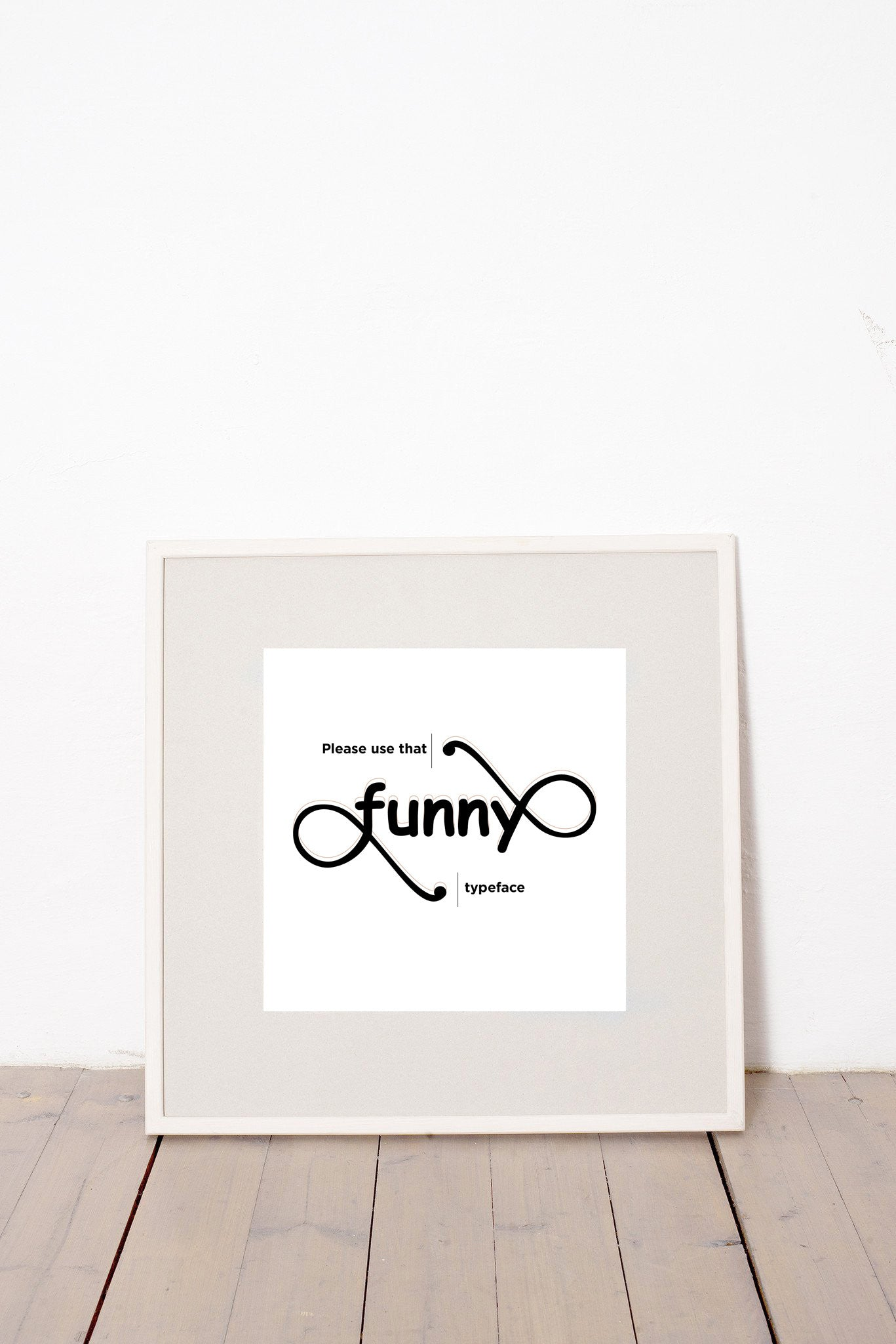 PLEASE USE THAT FUNNY TYPEFACE MARCELL PUSKÁS PUSKAAS PRINTA HAND-MADE WATER-BASED SILKSCREEN PRINT ON RECYCLED PAPER