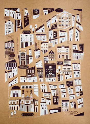 Jewish Quarter Print - Brown