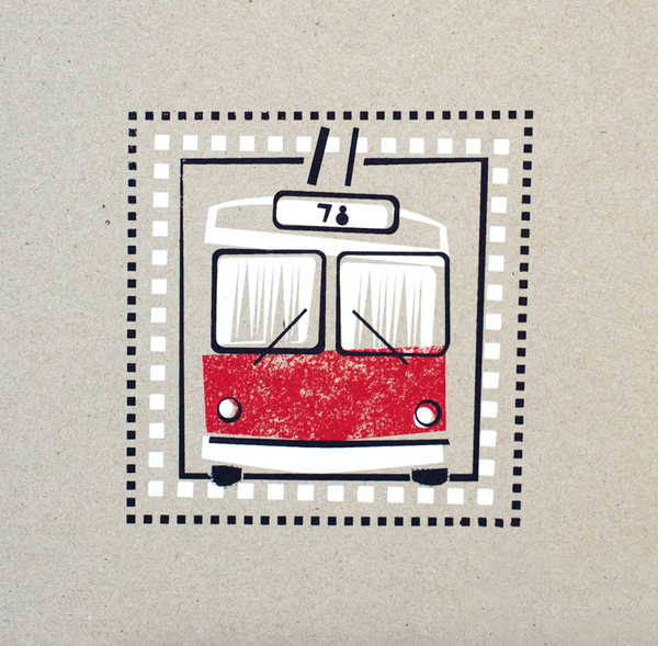 TROLLEYBUS - PICTO PEST PRINT