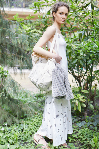 ZERO WASTE BEIGE MAXI DRESS