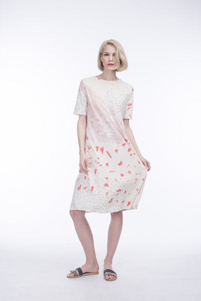 PATTERNED NATURAL A-DRESS