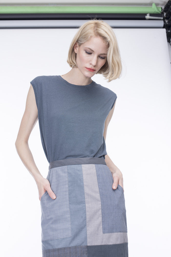 GREY SHIRT SKIRT