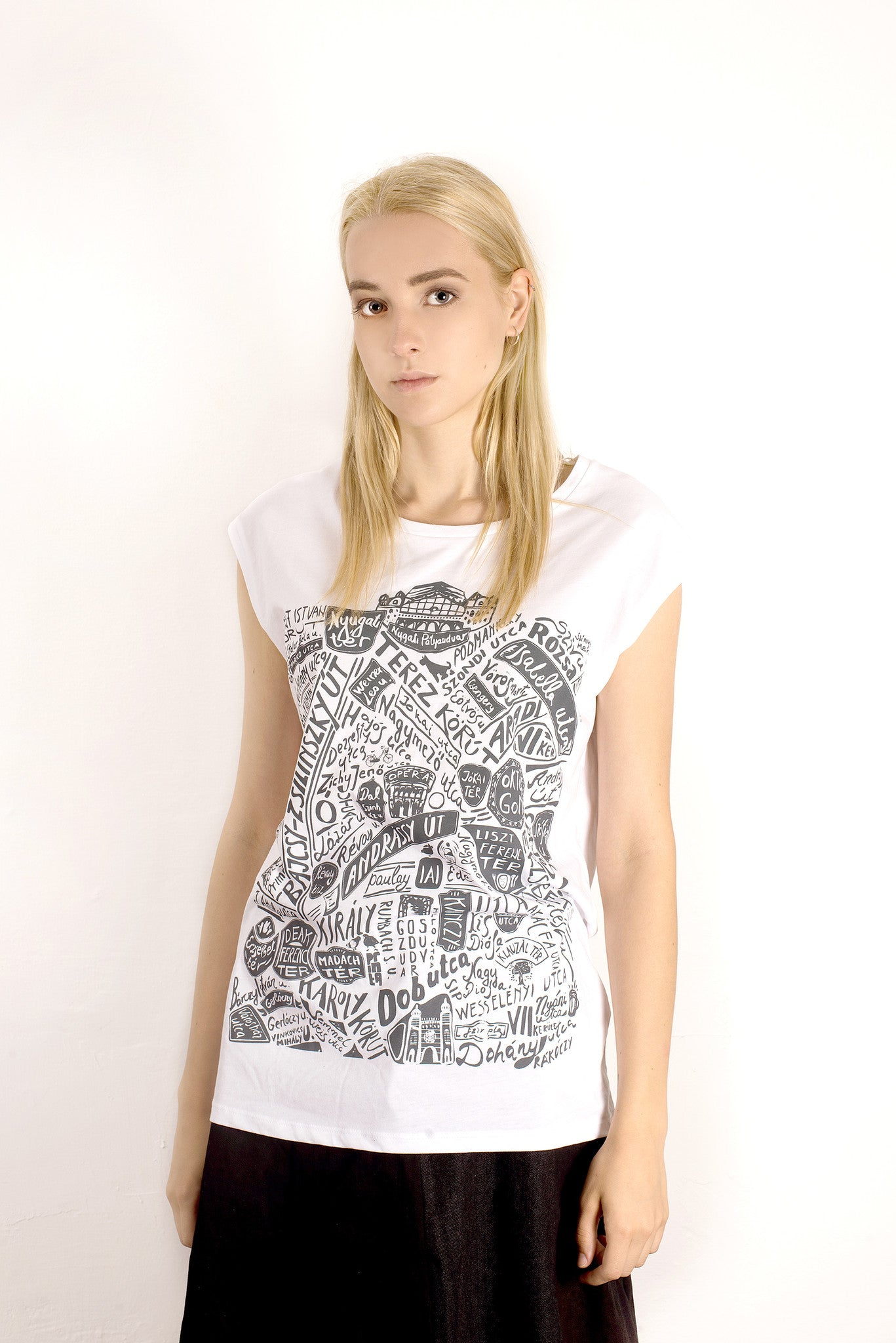 WOMEN'S VINTAGE PEST TENCEL TOP