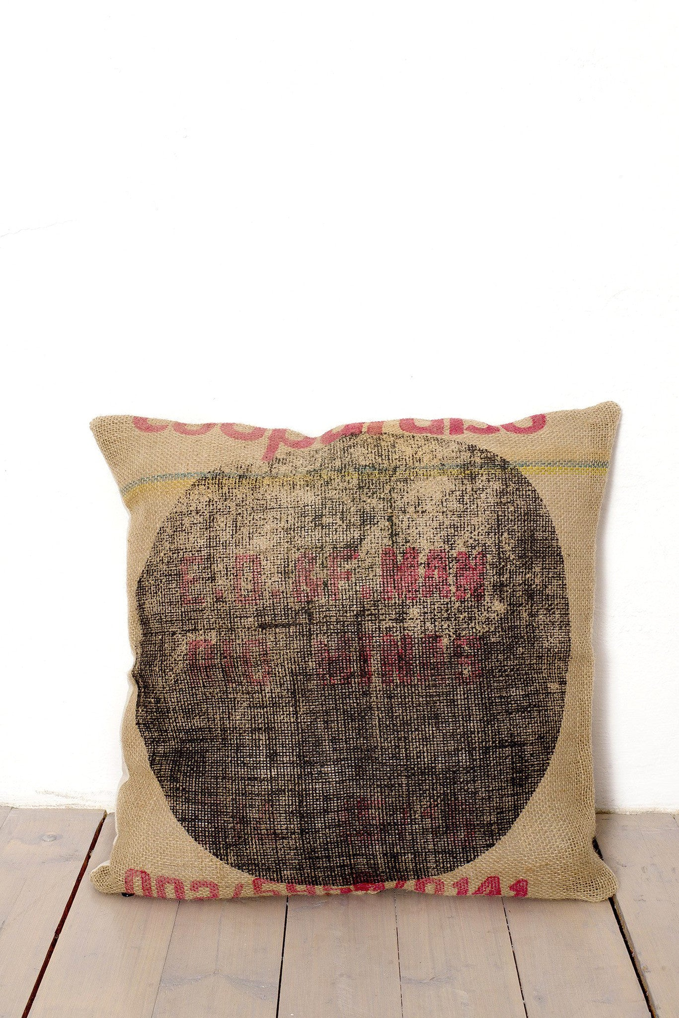 BURLAP COFFEE BAG PILLOWCASE