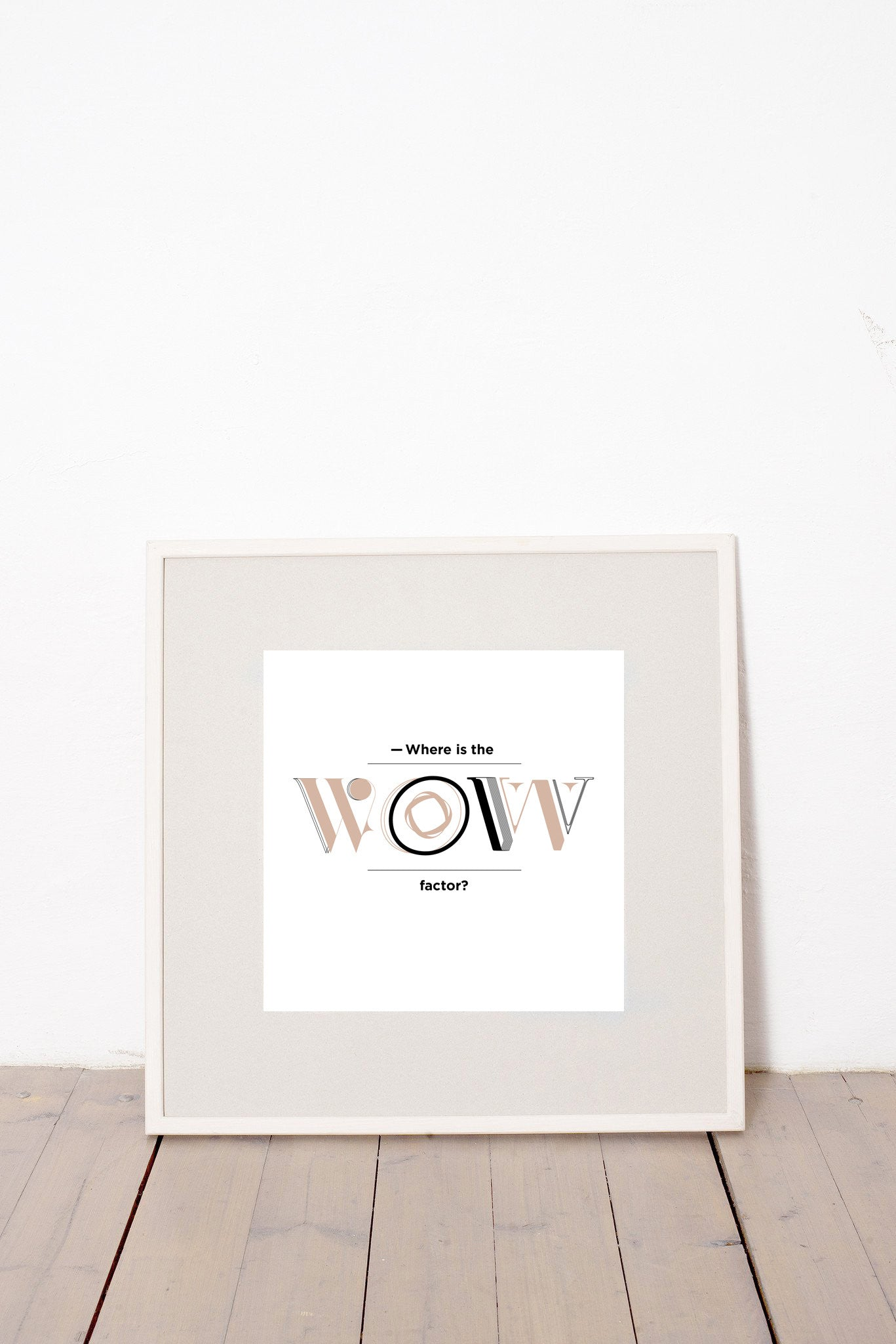 WHERE IS THE WOW FACTOR MARCELL PUSKÁS PUSKAAS PRINTA HAND-MADE WATER-BASED SILKSCREEN PRINT ON RECYCLED PAPER