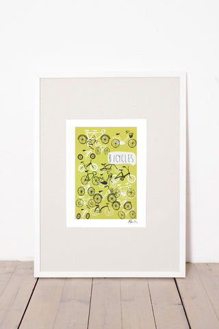 BICYCLES PRINT - YELLOW