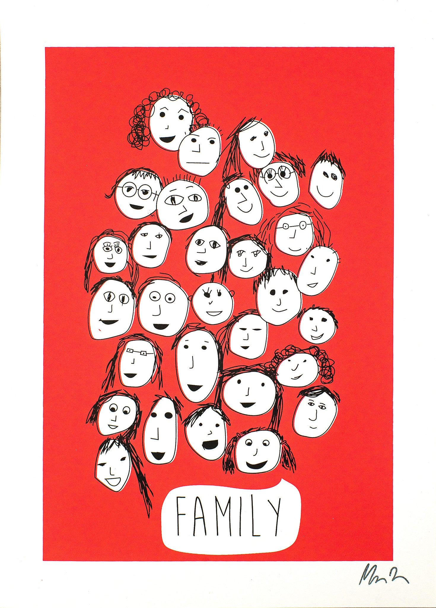 FAMILY PRINT - RED