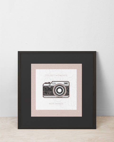 Camera / Moments - Picto Pest Print
