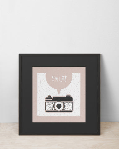 Camera / Smile - Picto Pest Print