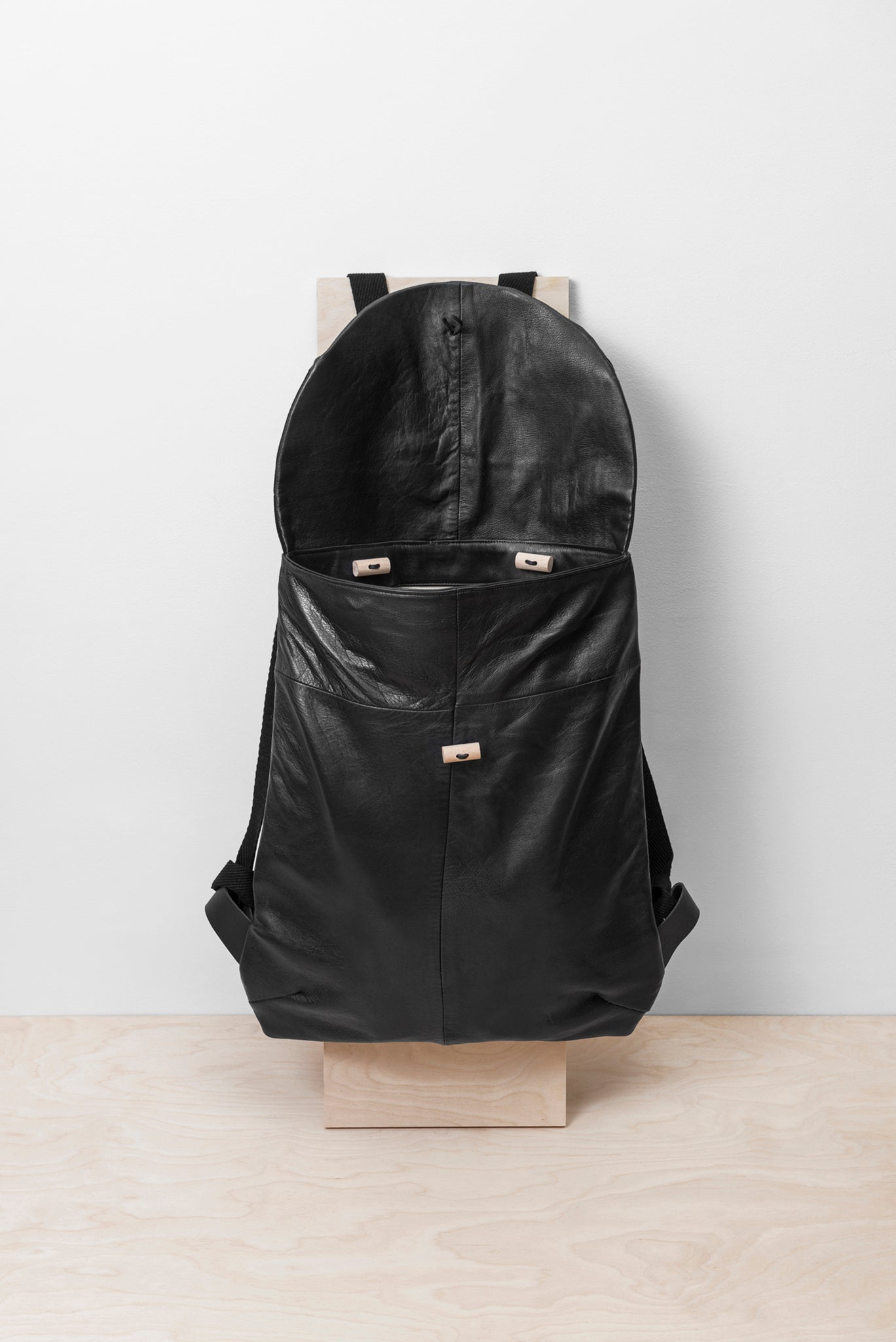 BLACK PATCHWORK BACKPACK