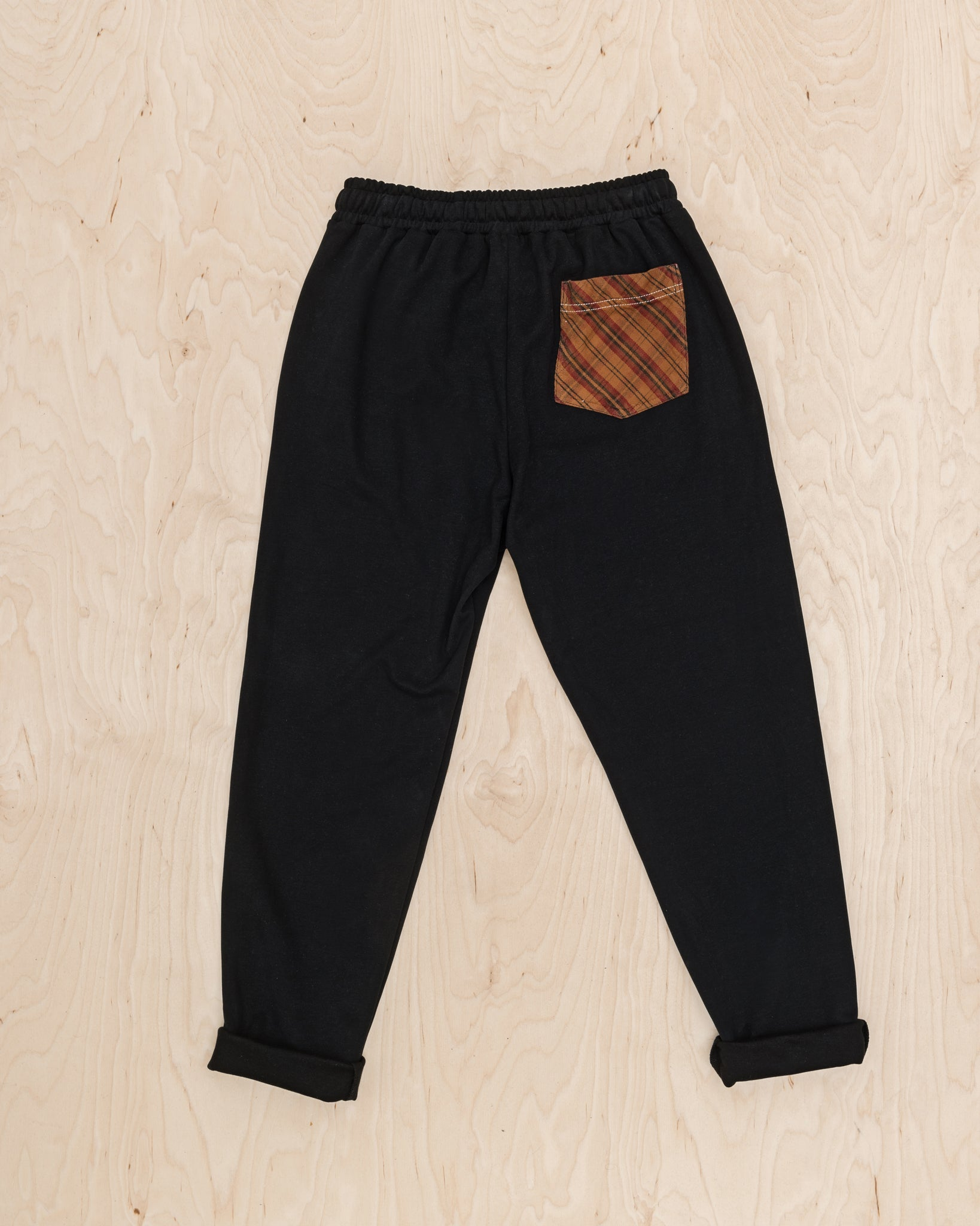 Black Unisex Organic Cotton Pants