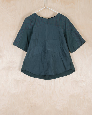 Charcoal Green Blouse