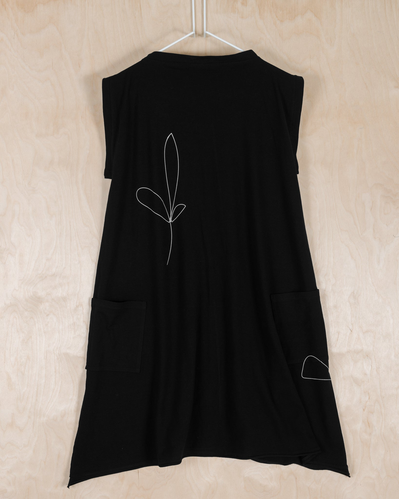 ZERO WASTE BLACK DRESS