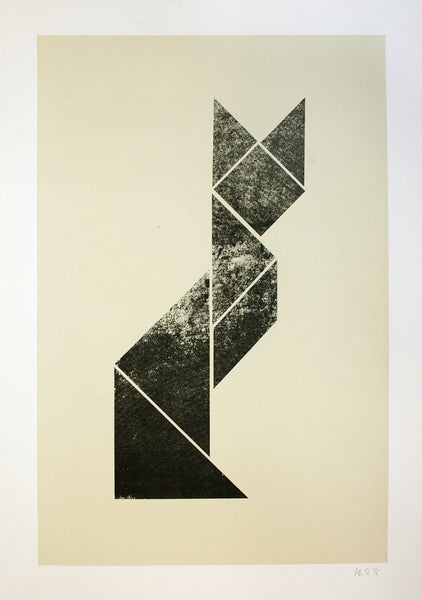 TANGRAM FOX PRINT - BIG