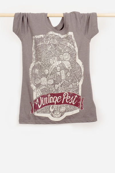 WOMEN'S VINTAGE PEST T-SHIRT
