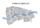 A Map Of Every City - A2 (Bonus Coffee Print!)