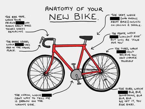Bike Comic with a Custom Name