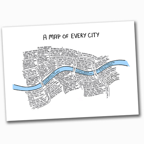 A Map Of Every City (A2)