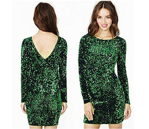 Green Sequin Dress Women Sexy 2019