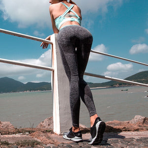 Patchwork Slim Women Leggings Fitness High Waist Elastic Leggings For Women Workout Quick Dry Pants Push Up Leggins