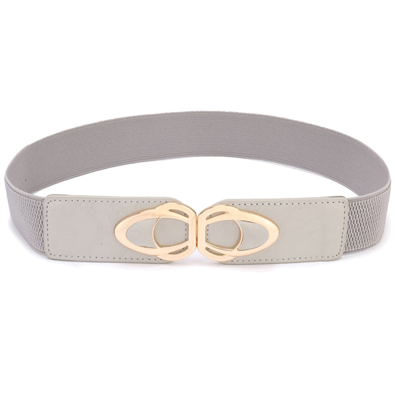 PU Leather Elastic Wide Belt for Women Stretch Thick Waist Belt for Dress Fashion Stretch women belts plus size (65cm, 75cm, 85cm)