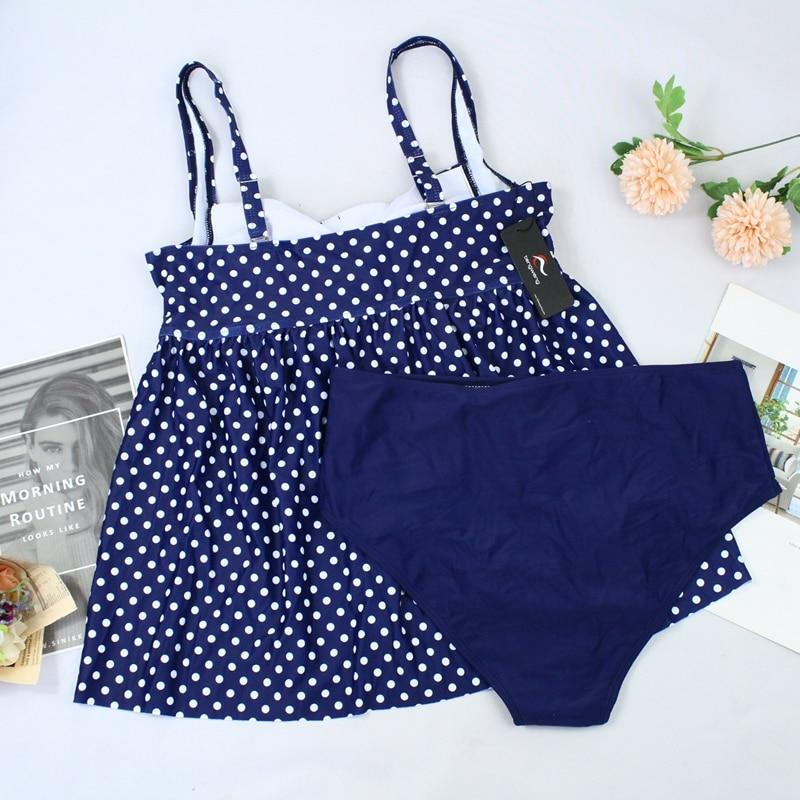 Tummy Control Vintage Dots Two piece Swimsuit