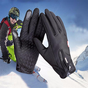 Windstopers Gloves Anti Slip Windproof Thermal Warm Touchscreen Glove Breathable Tactico Winter Men Women Black Zipper Gloves