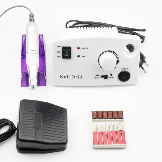 Electric Nail Drill Manicure Machine Set  32W 35000RPM for Nail Pedicure Machine Fingernail Drill Manicure Tools