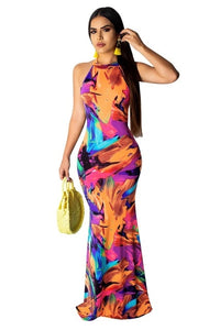Sexy Women's Long Dress Elegant Sundress Summer Party