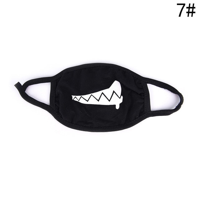 1PC Cute Cartoon Face Mask Funny Teeth Pattern Anti bacterial Unisex Dust Winter Warm Mouth Mask Multi Style Hot Sale