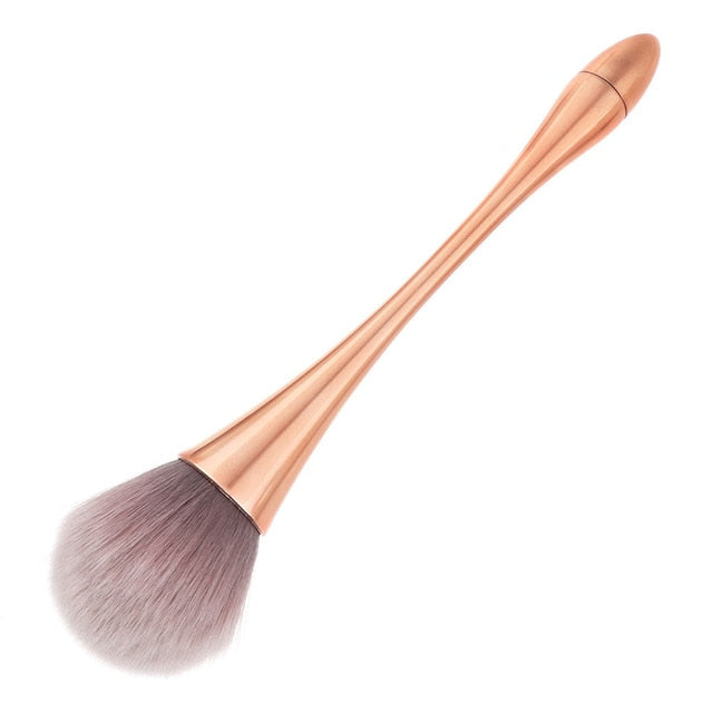 Big Size Metal Handle Rose Gold Powder Blush Makeup Brush For Shading Foundation Base Contour Make Up Brush Concealer Cosmetic