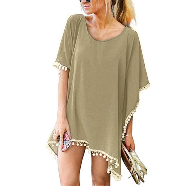 Women's Beach Dress Coverup Casual Sundress Swimsuit