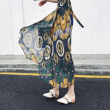 25 Colors 2019 Bohemian High Waist Floral Print Summer Skirts Womens Boho Asymmetrical Chiffon Skirt Maxi Long Skirts For Women
