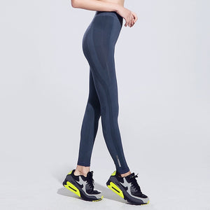 Women High Elastic Leggings Push Up Ankle length Pants Absorb Sweat Workout Gym Fitness Outdoor Running Sports Trousers