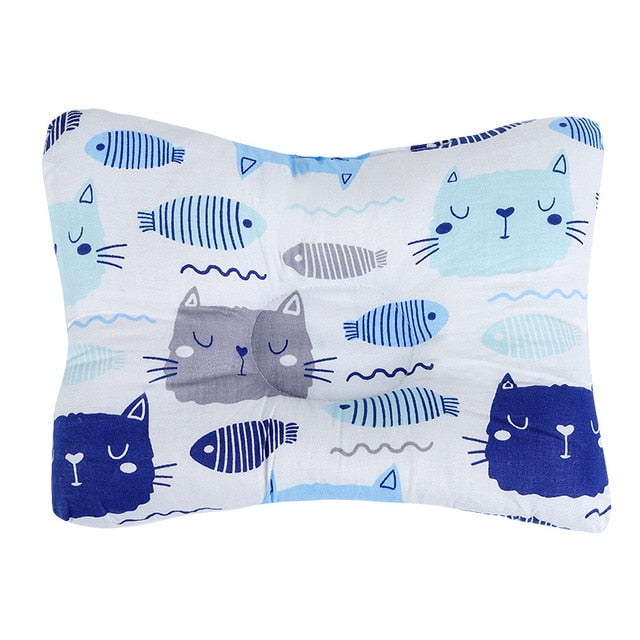 Baby Nursing Pillow Infant Newborn Sleep Support Concave Cartoon Pillow Printed Shaping Cushion Prevent Flat Head
