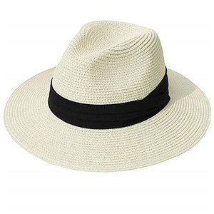 Panama Hat Summer Sun Hats for Women Man Beach Straw Hat for Men UV Protection Cap chapeau femme 2019 Available size (M,L)