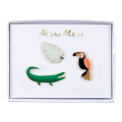 "Pins ""Tropical Toucan"" Meri Meri"