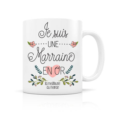 "Mug ""Marraine En Or"" Créa Bisontine"