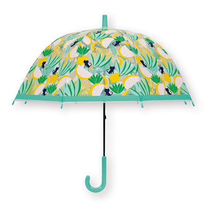 parapluie enfant transparent cloche bandjo tropical