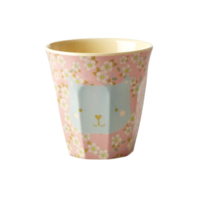 petit gobelet mélamine rice liberty rose chat bleu