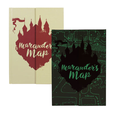 carnet de notes carte du maraudeur Harry Potter