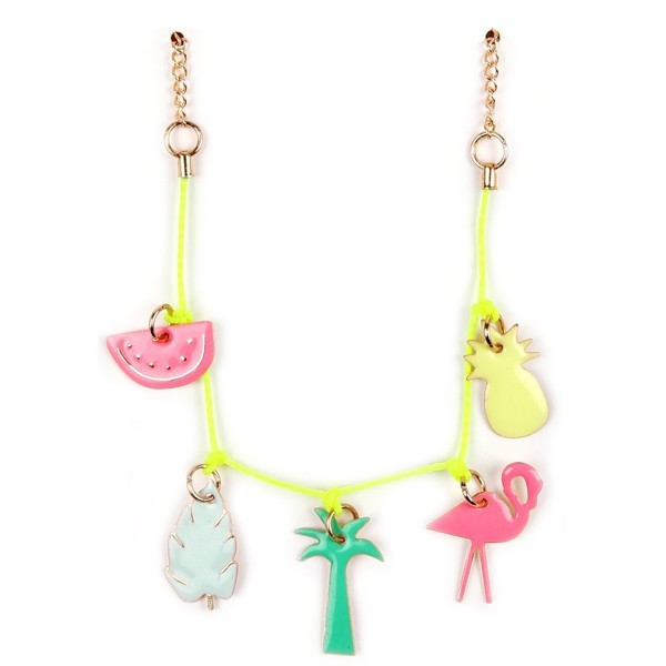 collier tropical émaillé meri meri