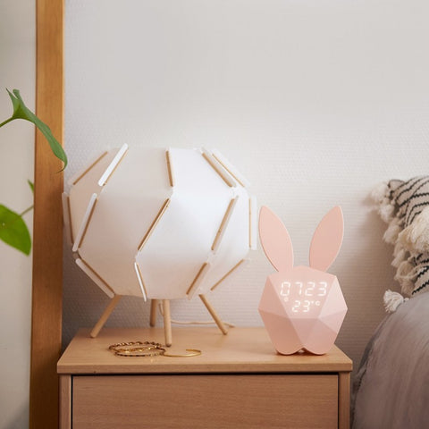 réveil lapin design origami cutty clock