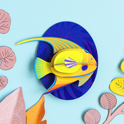 poisson studio roof yellow angelfish décoration murale