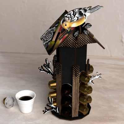 "Porte Capsules Café Nespresso ""Early Bird"""