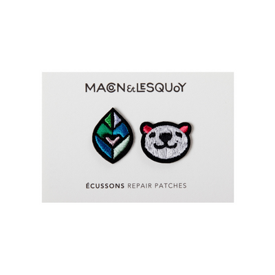 patch thermocollant loutre et feuille macon lesquoy