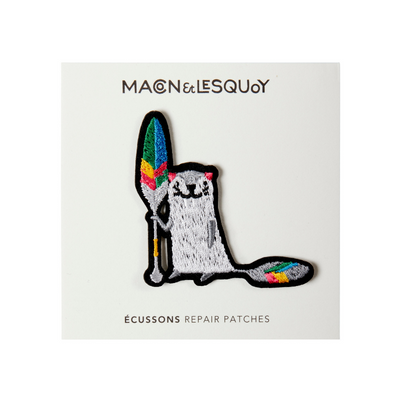 patch thermocollant loutre + pagaye macon et lesquoy